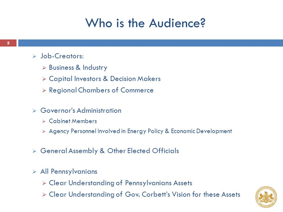 Who is the Audience.