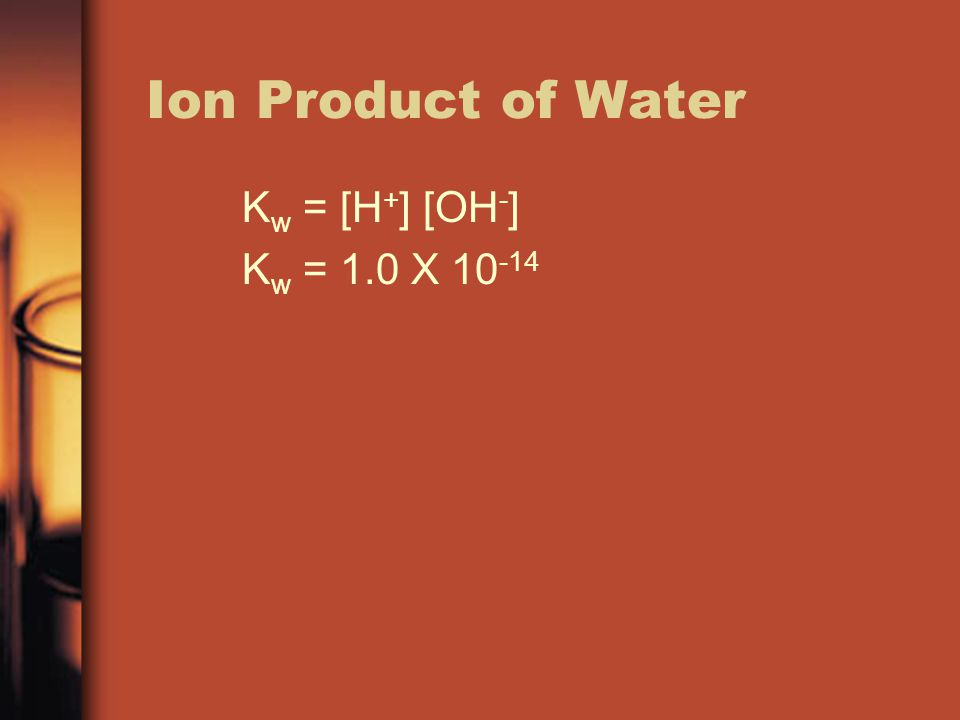 Calculations For each concentration given, calculate the pH or pOH.