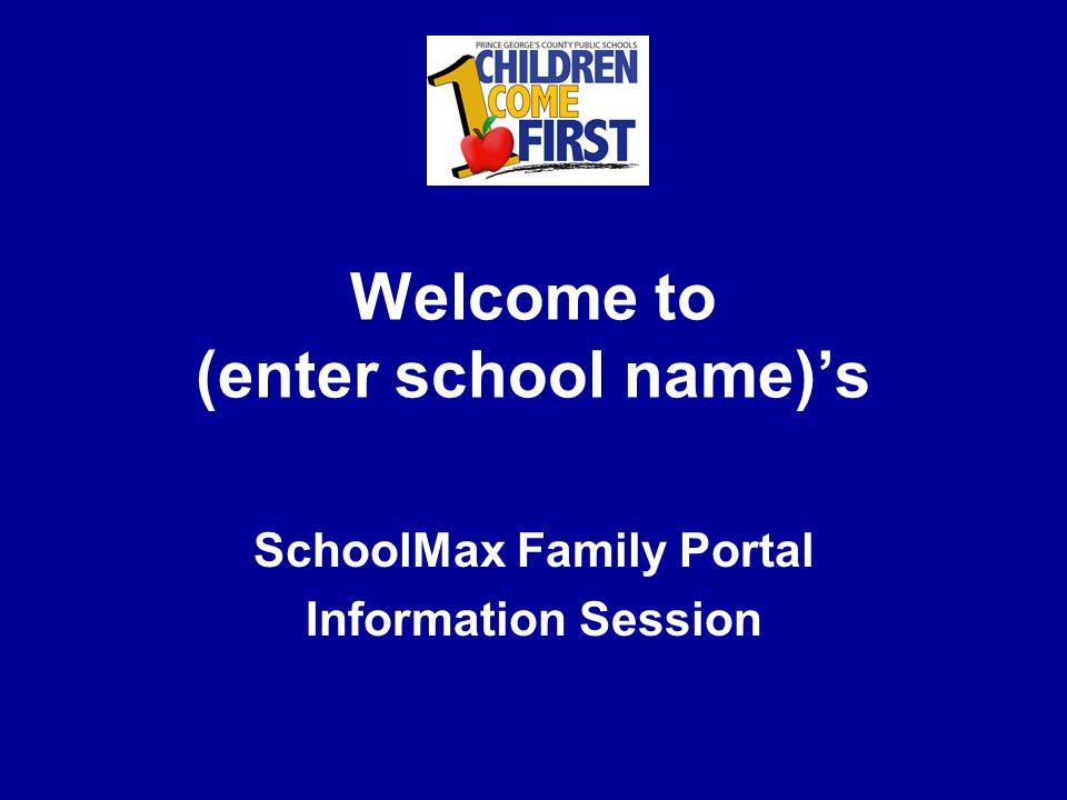 SchoolMax Family Portal Any questions?