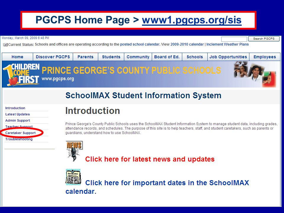 PGCPS Home Page > www1.pgcps.org/siswww1.pgcps.org/sis