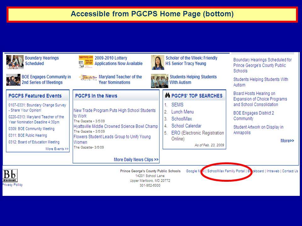 SchoolMAX Family Portal Schedule Tab