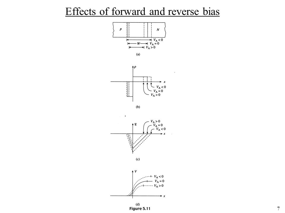 7 Effects of forward and reverse bias