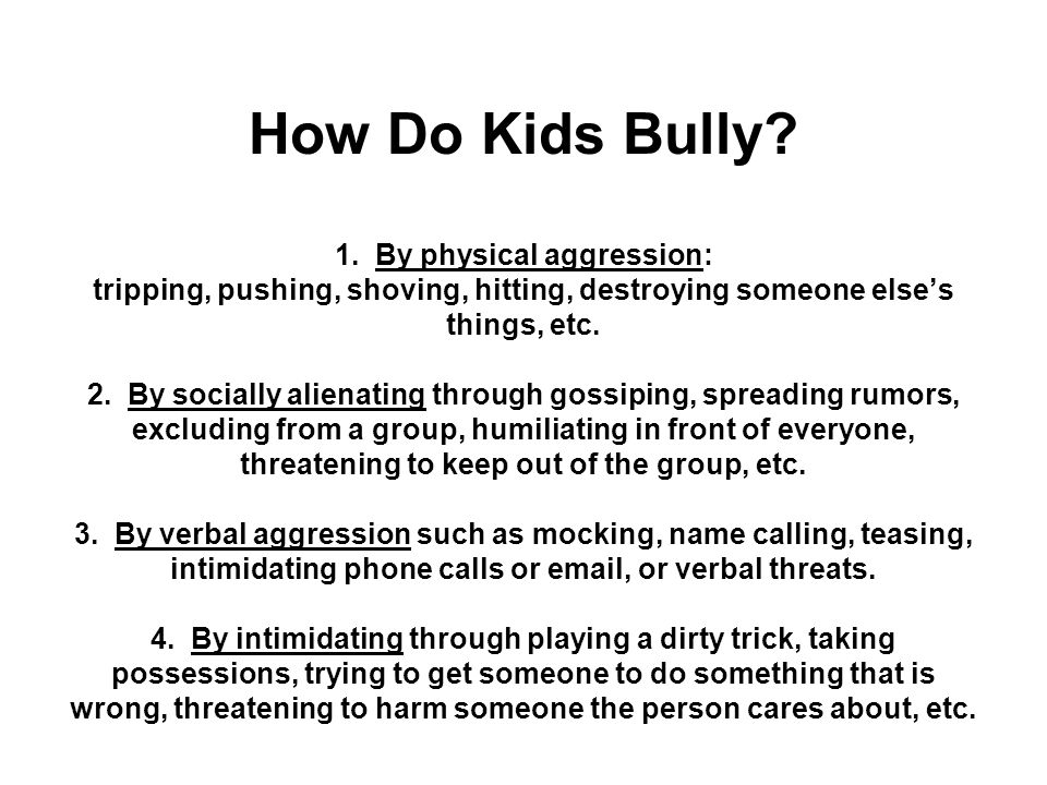 So what is the difference between bullying and conflict.