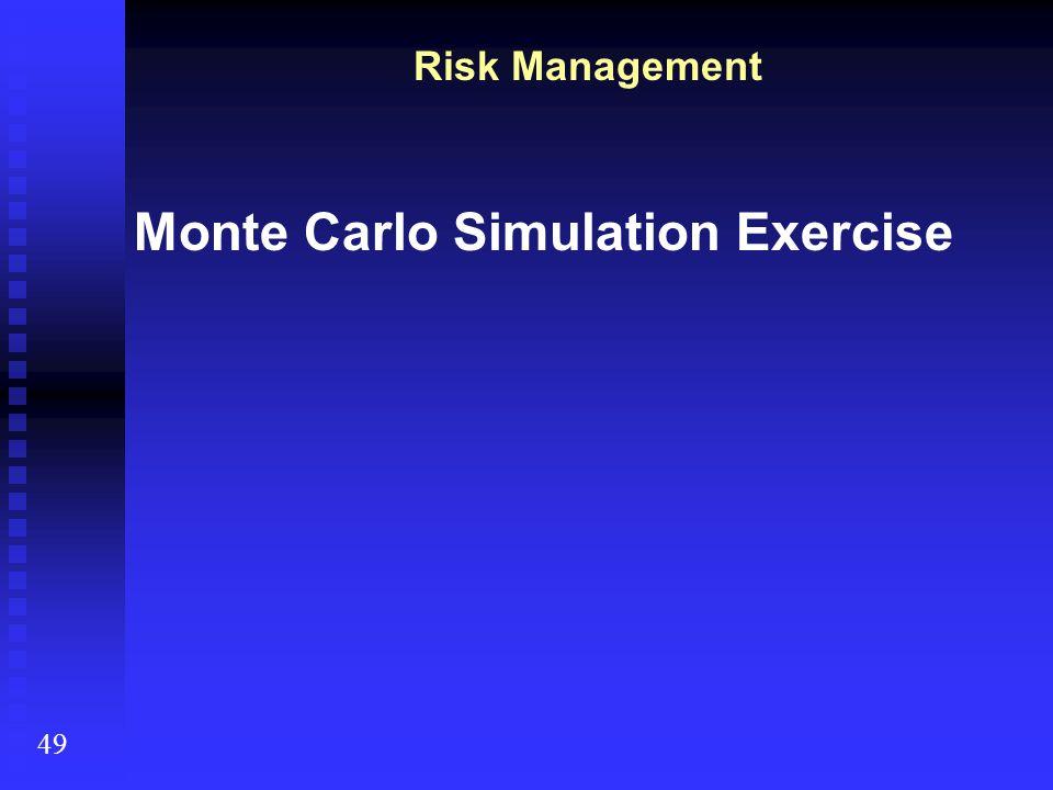Monte Carlo Simulation Exercise Risk Management 49