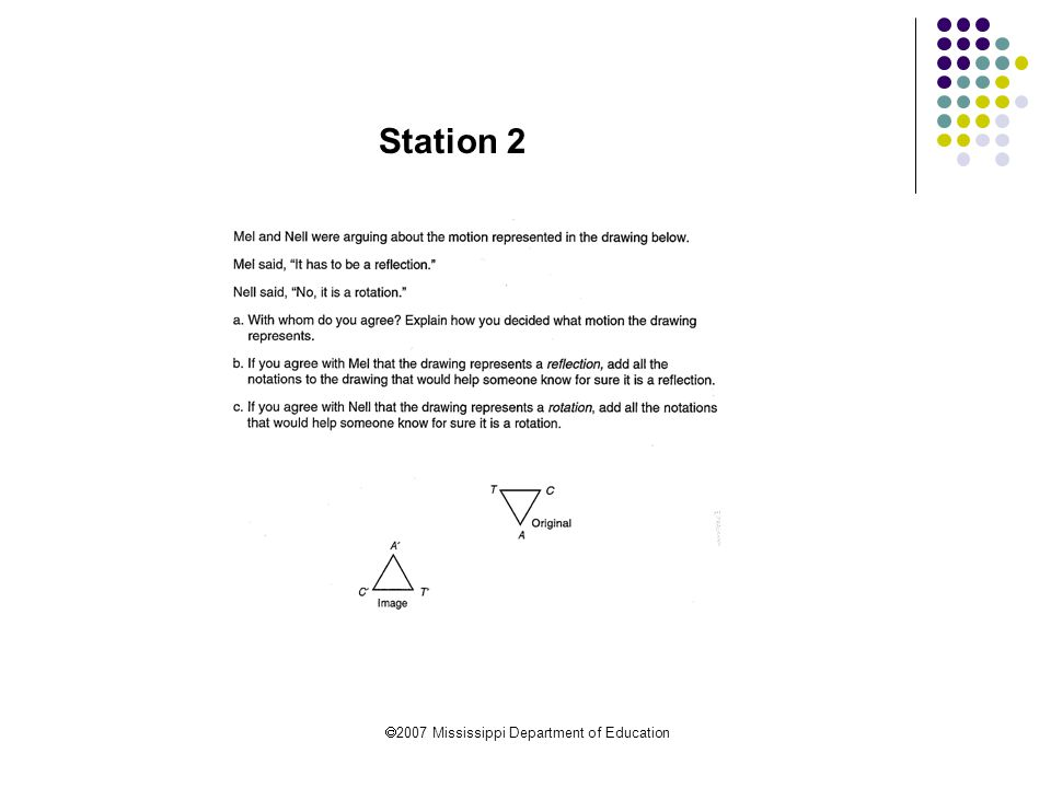  2007 Mississippi Department of Education Station 3