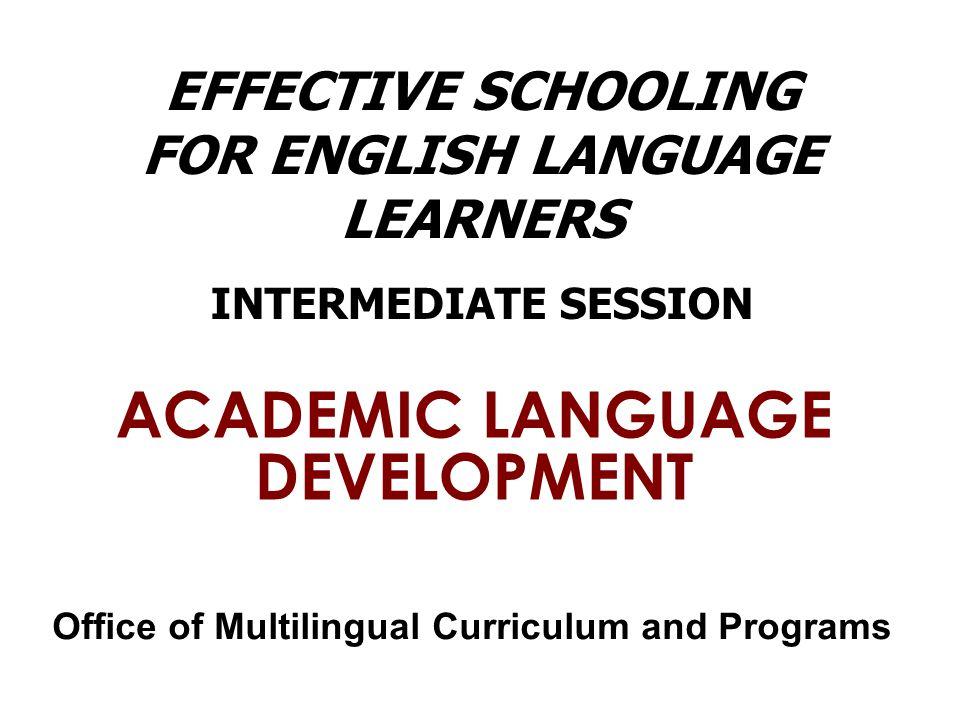 Academic Language Strategy: Visuals