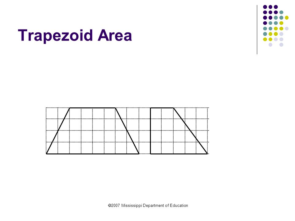  2007 Mississippi Department of Education Trapezoid Area