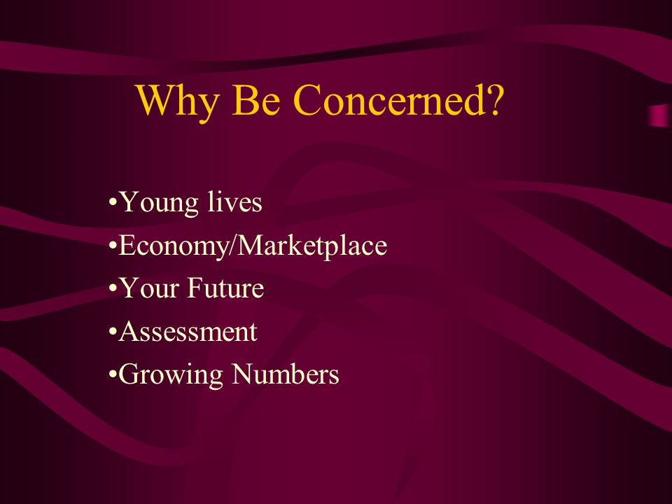 Why Be Concerned Young lives Economy/Marketplace Your Future Assessment Growing Numbers