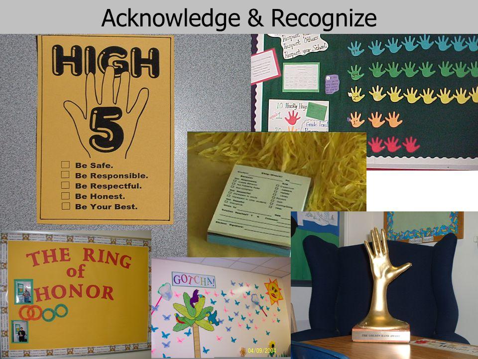 91 Acknowledge & Recognize