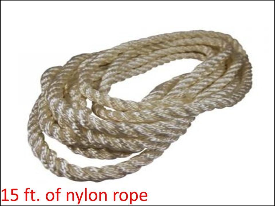 15 ft. of nylon rope