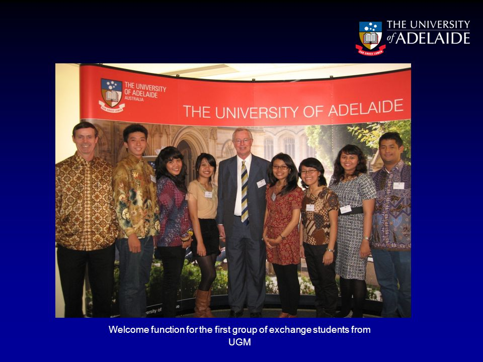 Welcome function for the first group of exchange students from UGM