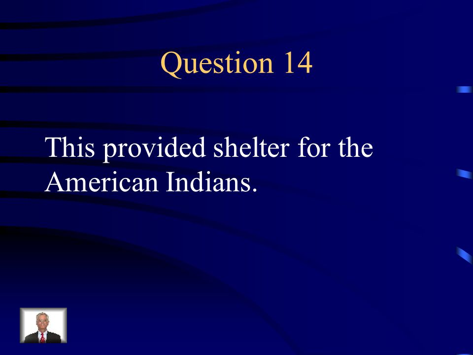 Answer 13 What are --animal skins and plants?