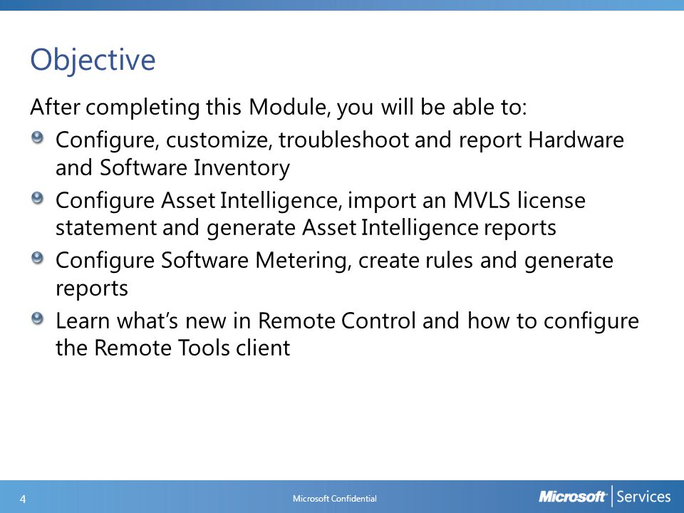 Software Inventory Components and Logs Microsoft Confidential 15