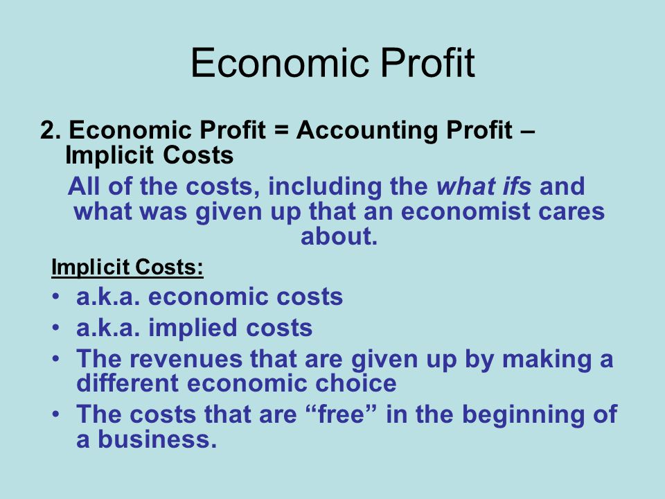 Economic Profit 2.