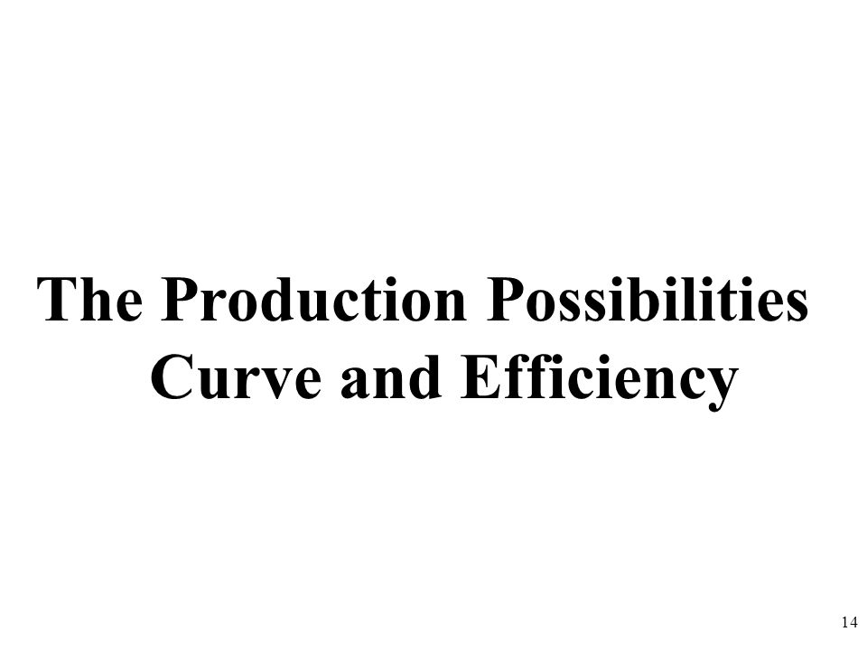The Production Possibilities Curve and Efficiency 14