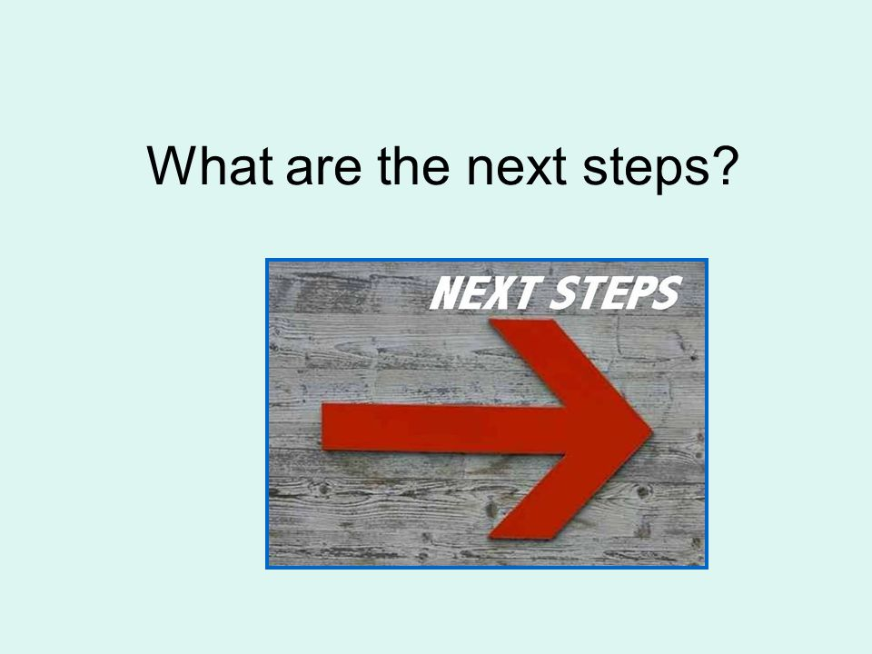 What are the next steps