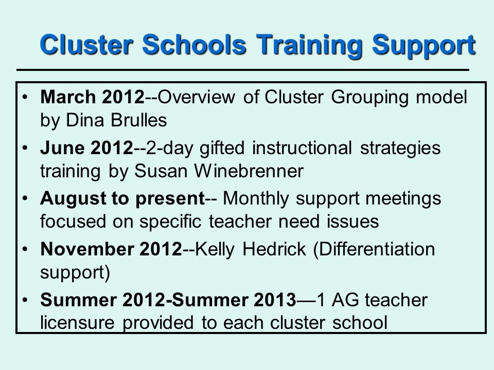 Collective support for All AG Teachers