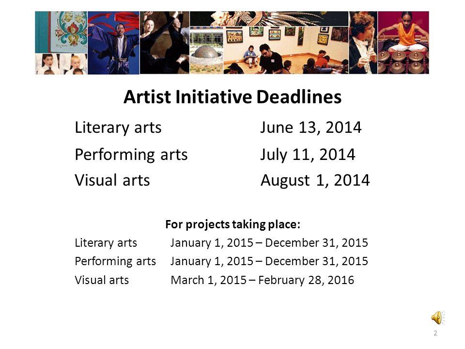 Minnesota State Arts Board 2015 Artist Initiative Grant Program 1