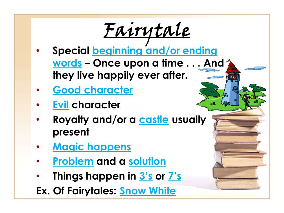 Fairytale Special beginning and/or ending words – Once upon a time...