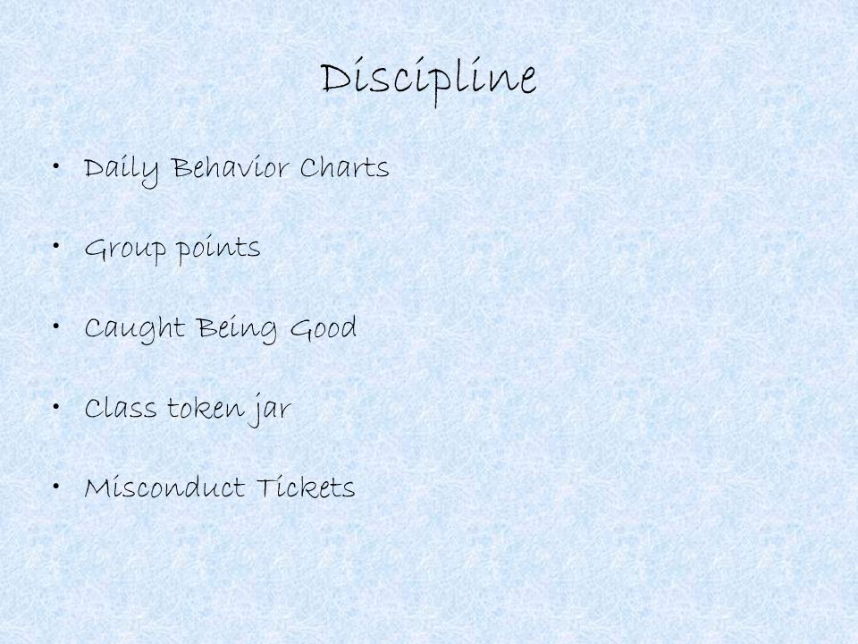 Discipline Daily Behavior Charts Group points Caught Being Good Class token jar Misconduct Tickets