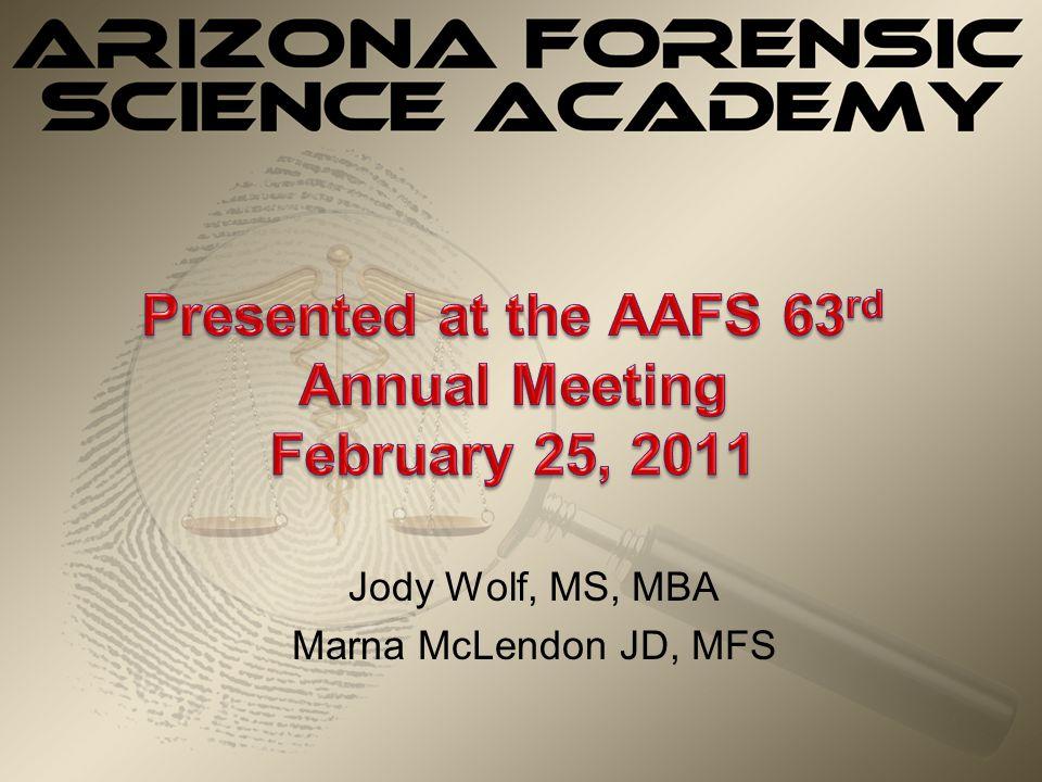 Jody Wolf, MS, MBA Marna McLendon JD, MFS