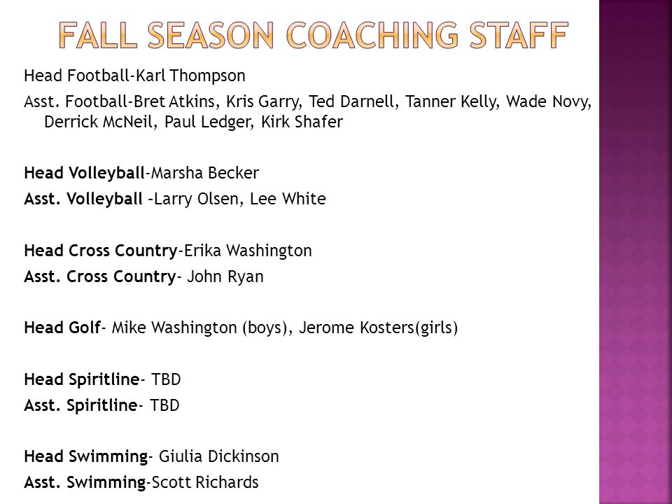 Head Football-Karl Thompson Asst.