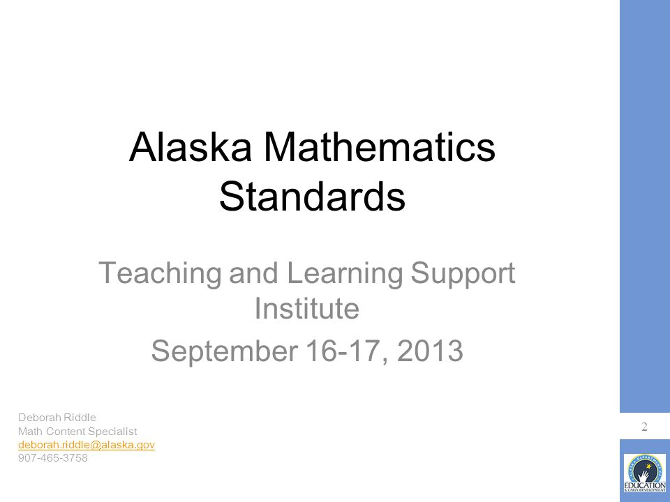 Goals for Today Revisit the 3 Standards Shifts in math Look at the Mathematical Practices Examine some instructional strategies 3