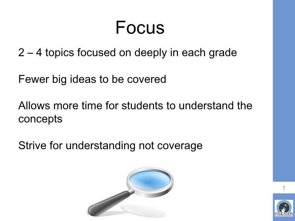 6 Shift 1: Focus Multiplication Grade 3 New Math Standards Represent and solve problems involving multiplication.