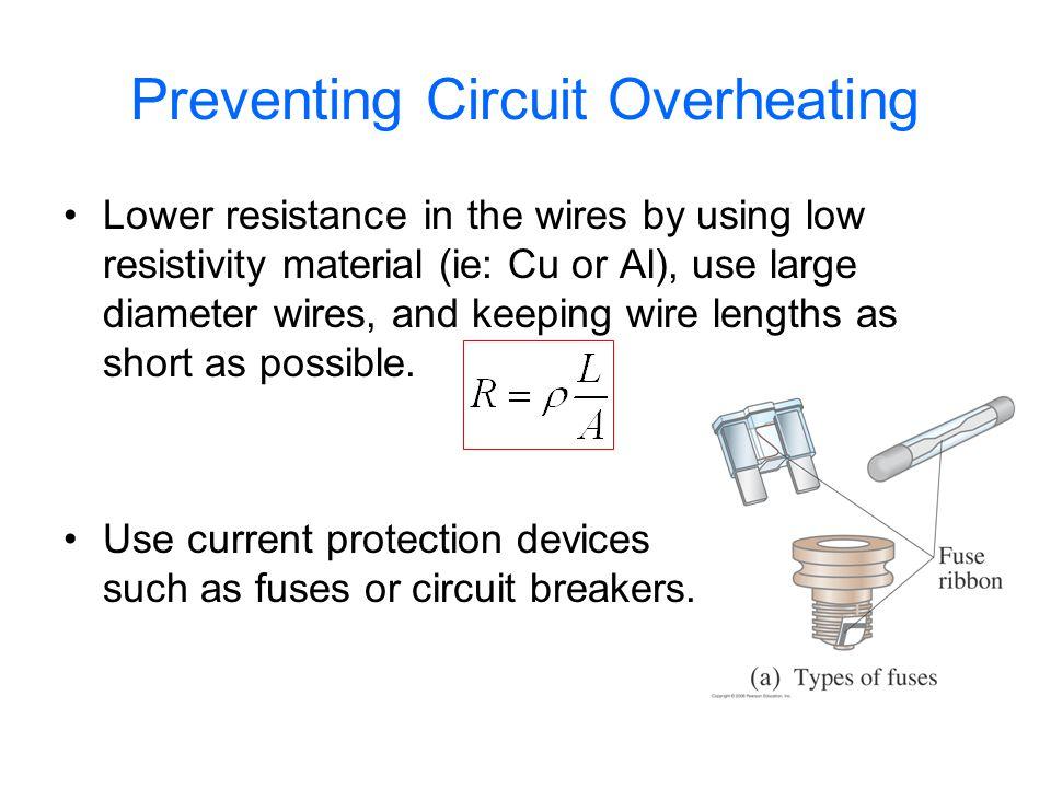 Circuit Breakers Circuit breakers (CB)use a bi-metallic strip to open the circuit