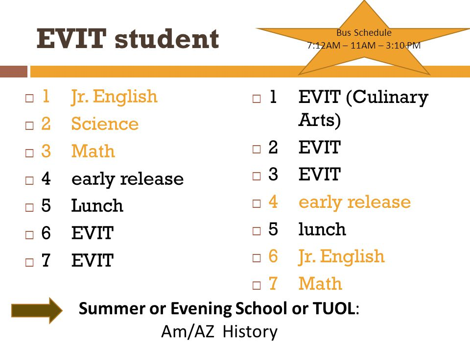 EVIT student  1Jr.
