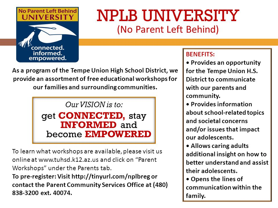 BENEFITS: Provides an opportunity for the Tempe Union H.S.