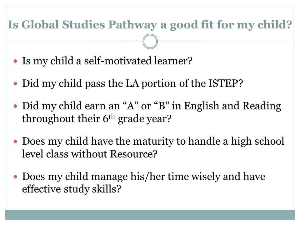 Is my child a self-motivated learner. Did my child pass the LA portion of the ISTEP.