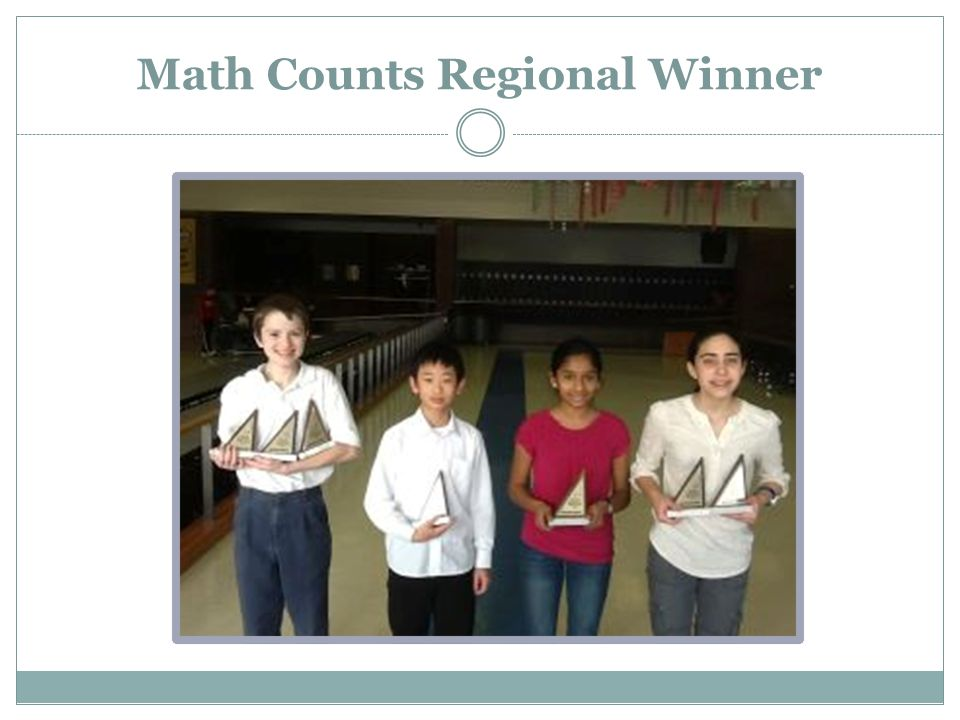 Math Counts Regional Winner
