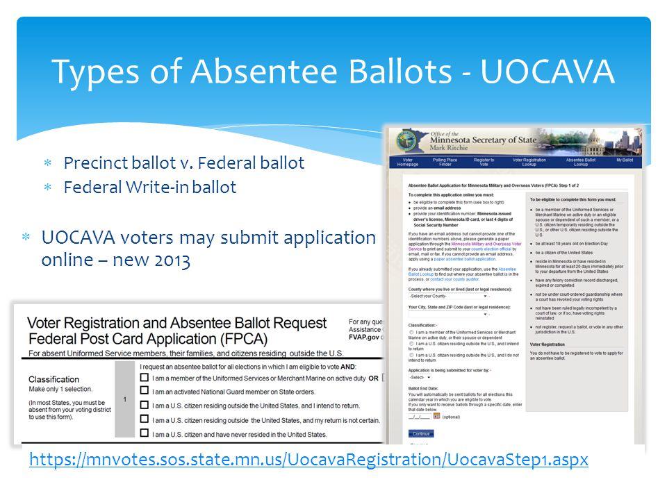  Precinct ballot v.