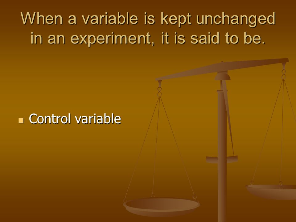 6.What is a controlled experiment.