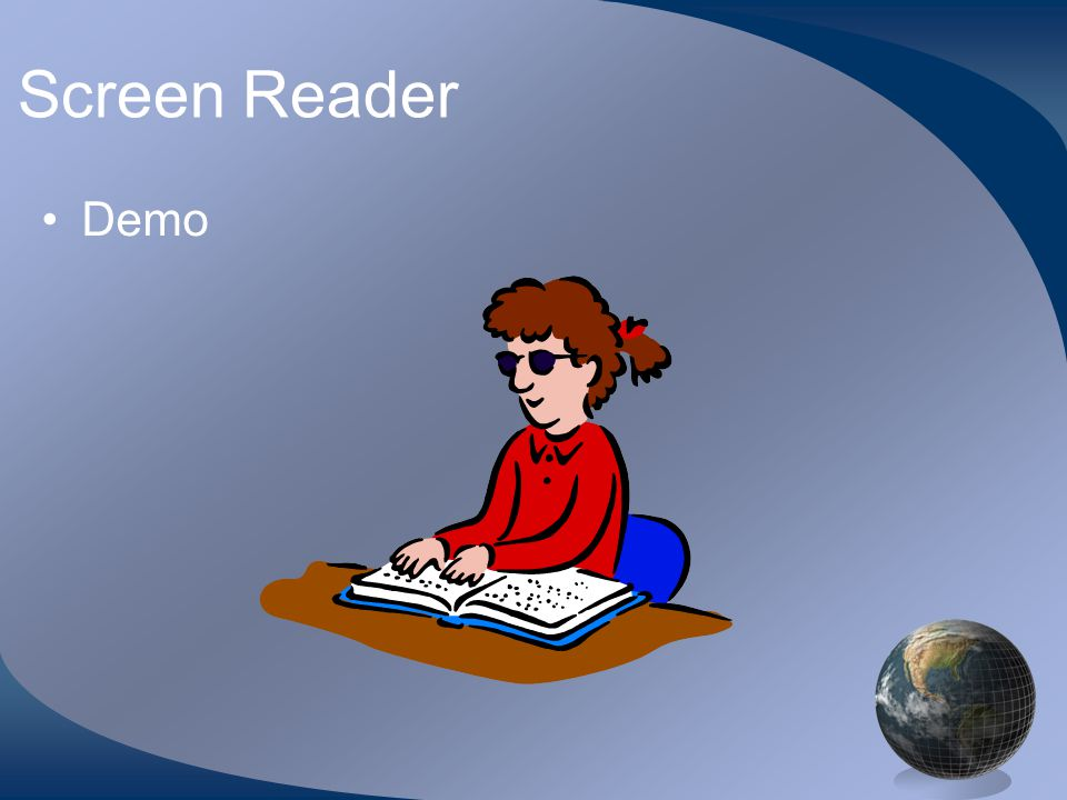 Screen Reader Demo
