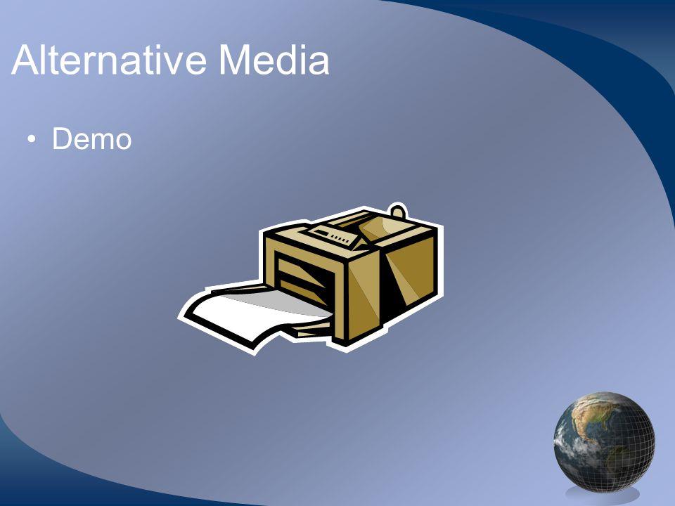 Alternative Media Demo