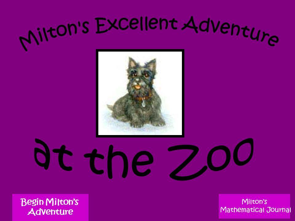 Milton's Mathematical Journal Begin Milton's Adventure