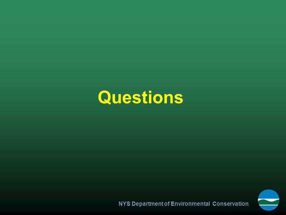 NYS Department of Environmental Conservation Questions