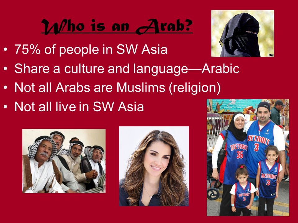Who is an Arab.