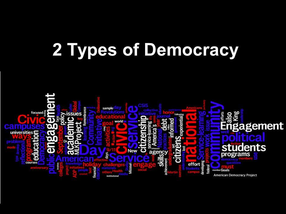 2 Types of Democracy