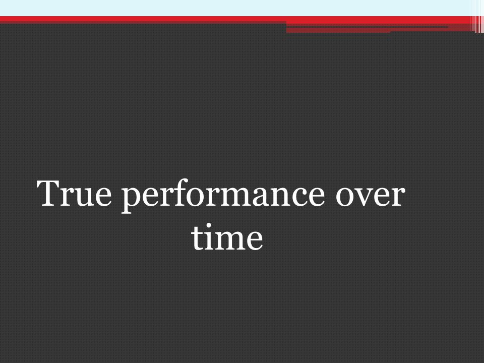 True performance over time