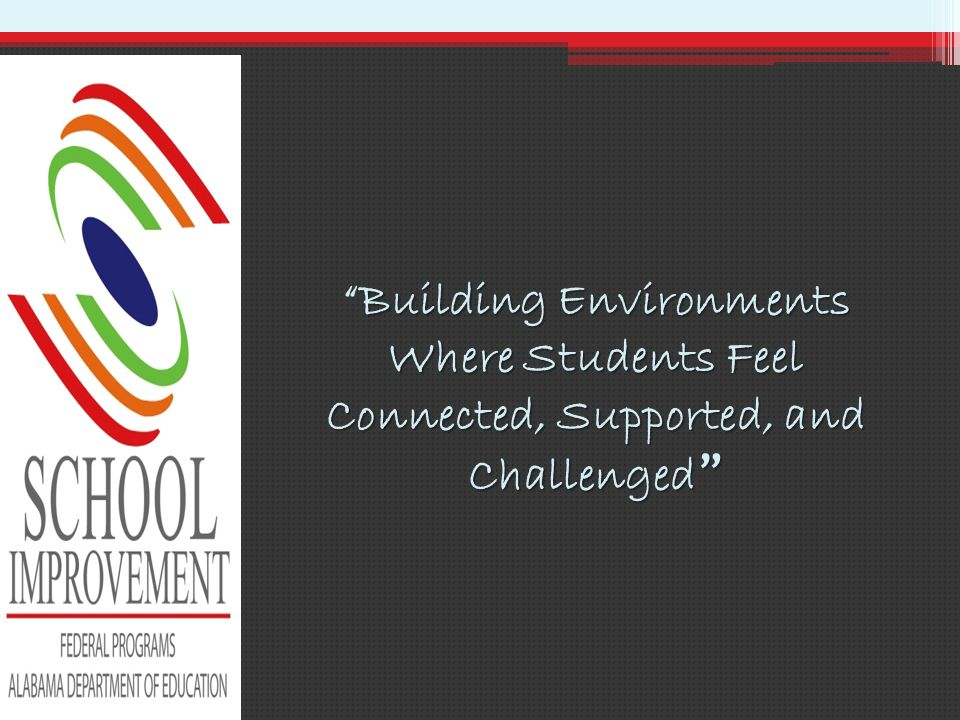 Building Environments Where Students Feel Connected, Supported, and Challenged Building Environments Where Students Feel Connected, Supported, and Challenged