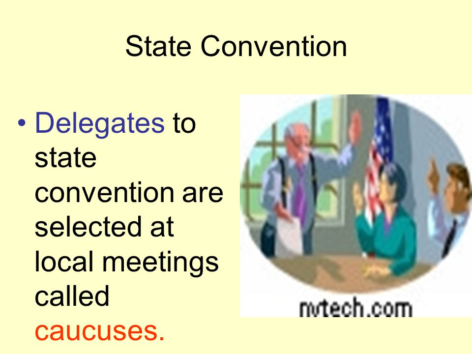 Getting delegate votes AND Winning delegates at State conventions