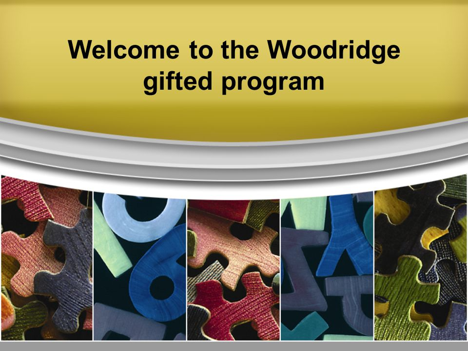 Welcome to the Woodridge gifted program