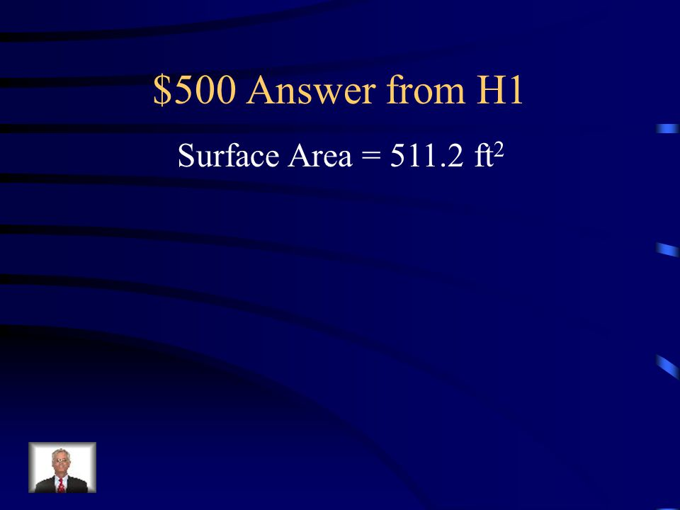 $500 Question from H1 Find the surface area of the regular hexagonal prism.