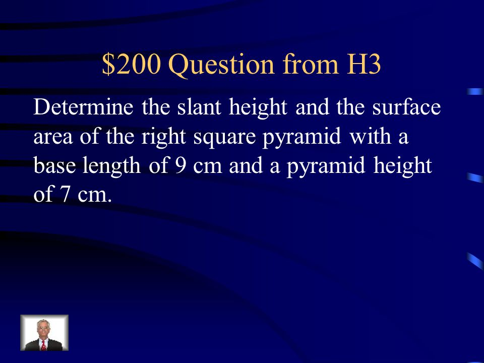 $100 Answer from H3 Surface Area = 89.4 mi 2