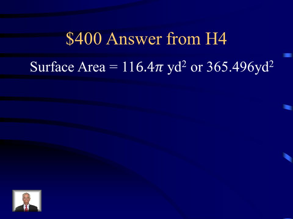 $400 Question from H4 Determine the surface area of the cone.