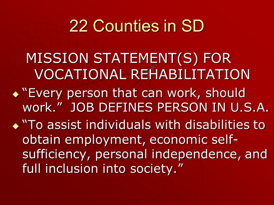  Mission Statement, HSC To provide persons who are mentally ill or chemically dependent with effective, individualized professional treatment that enables them to achieve their highest level of personal independence in the most therapeutic environment.