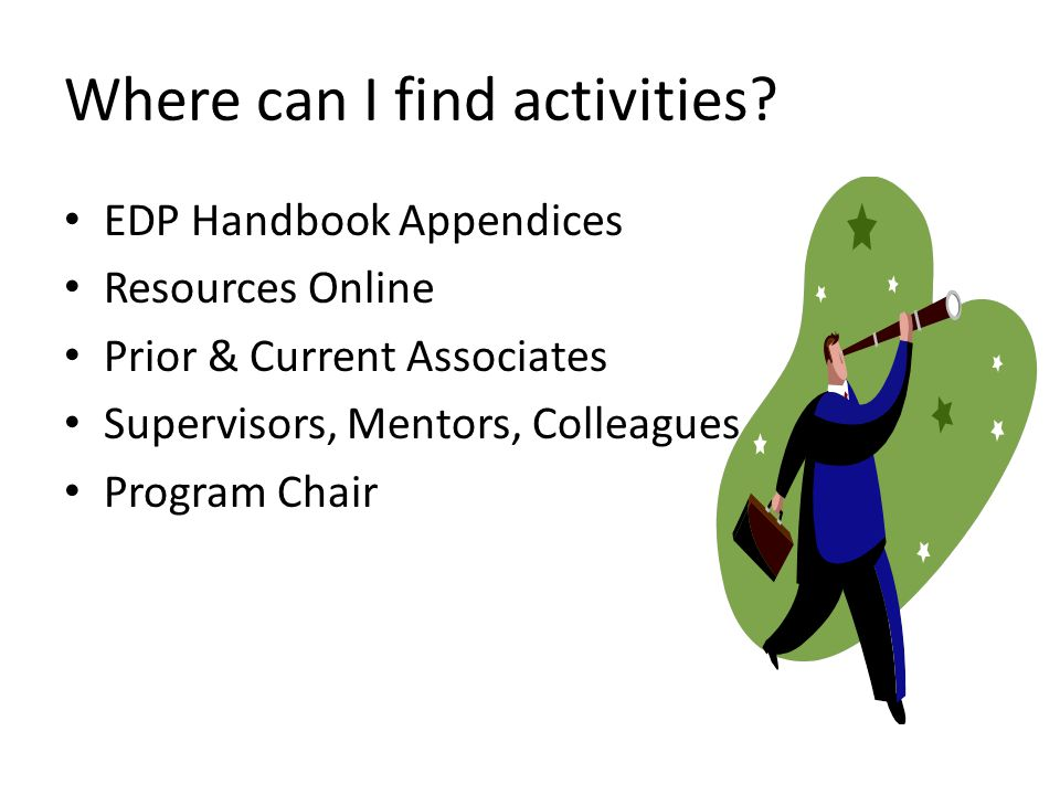 Where can I find activities.